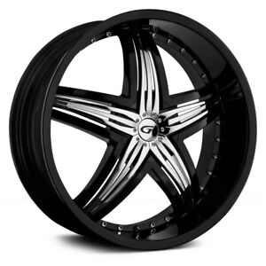 Gianna Blitz Wheels 24 x10 Black W Chrome Inserts 12 To 35 6x114 3 139 7