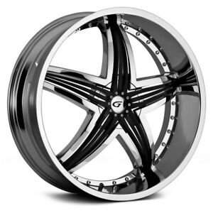 Gianna Blitz Wheels 24 x10 Chrome With Black Inserts 35 5x112 150