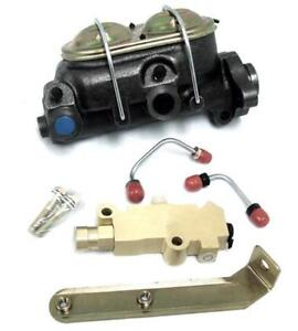 Gm A body Manual Master Cylinder W Bleeders Disc Drum Proportioning Valve Kit