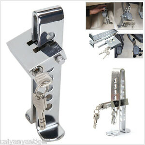 Car Truck Brake Pedal Security Lock Clutch Lock Anti Theft Stainless Steel 8hole