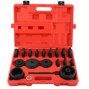 23pc Fwd Front Wheel Drive Bearing Removal Adapter Puller Pulley Tool Set W case