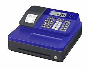 Casio Electronic Thermal Print Blue Cash Register Se g1sc bu