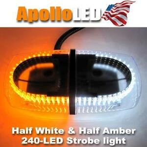 Dual Color Led Vehicle Roof Emergency Warning Strobe Light Lamp