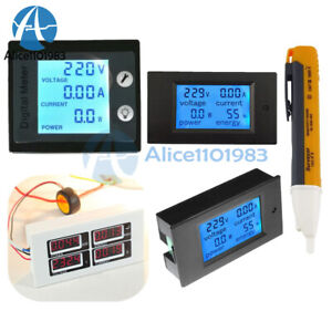 Ac 80 260v 0 100a Lcd Volt Current Watt Kwh Meter Power Energy Ammeter Voltmeter
