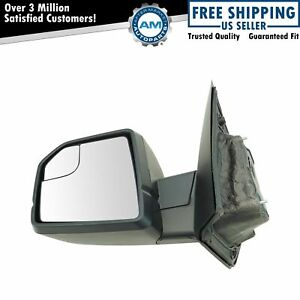 Performance Mirror Manual Textured Black Driver Side Left Lh For Ford F150 New