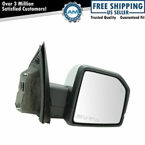 Mirror Power Folding Heated Memory Signal Blind Spot Puddle Chrome Rh For Ford