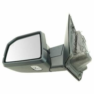 Mirror Power Folding Heated Memory Signal Blind Spot Puddle Chrome Lh For Ford