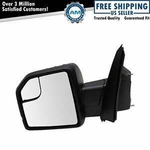 Mirror Power Heated Signal Spotlight Puddle Light Textured Black Left For Ford