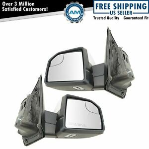 Mirror Power Folding Heated Memory Signal Spotlight Puddle Chrome Pair For Ford