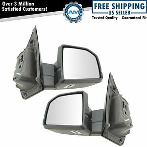 Mirror Power Fold Heated Memory Signal Spotlight Blind Spot Chrome Pair For Ford