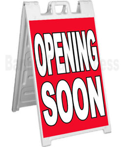 Signicade A frame Sidewalk Sign Sandwich Pavement Sign Opening Soon