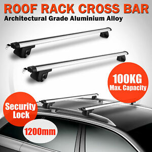 135cm 53 Universal Aluminum Car Top Roof Rack Cross Bar Luggage Carrier W Lock