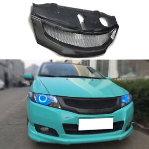 Carbon Car Outside Grille For Honda City 2008 2011 Front Grill Mesh Cover Trims