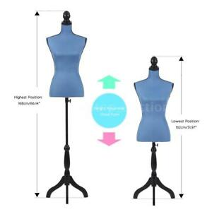 Female Mannequin Torso Dress Form With Wood Tripod Stand Pinnable Size H3p3