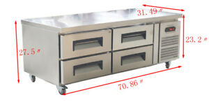 70 31 Refrigerated Chef Base Equipment Stand Refrigerator Four Drawers 110v