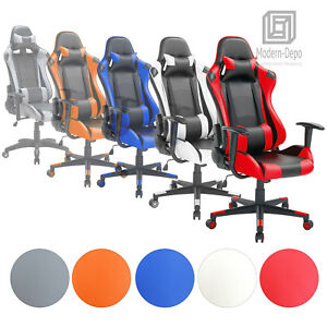 High back Swivel Gaming Chair Ergonomic Office Chair W Lumbar Support Headrest
