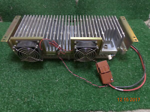 Ge Harris Mastr Iii Vhf 110 Watt Power Amplifier Amp 19d902797g21 With 2 Fans