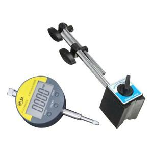 Magnetic Base Holder With Adjustable Pole Dial Indicator Test Gauge