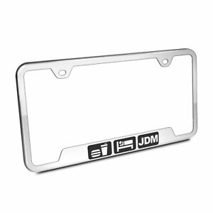 Eat Sleep Jdm Chrome Stainless Steel 50 States License Plate Frame