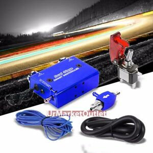 Blue Dual Stage Manual Electronic Turbo Charger Boost Controller Rocket Switch