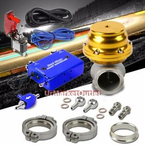 Blue Dual Stage Electronic Turbo Charger Boost Control gold External Wastegate