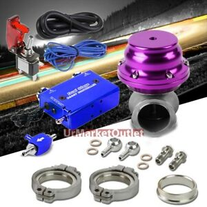 Blue Dual Stage Electronic Turbo Charger Boost Control purple External Wastegate
