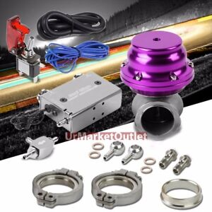 Silver Dual Stage Electronic Turbo Boost Control purple External Wastegate ring