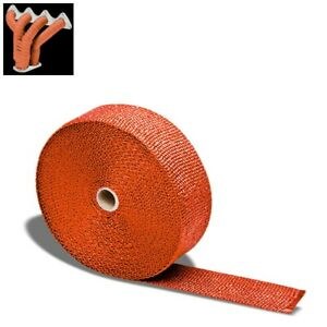 Orange 2 X 1 16x 15m 600 T1 Exhaust Header Turbo Manifold Downpipe Heat Wrap
