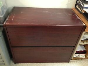 Mahogany Color 2 Drawers Lateral File Cabinet pick Up In Chicago