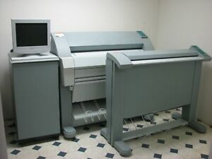 Oce Tds 400 Wide Format Printer Scanner Plotter Blue Print W Software