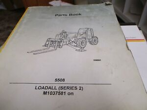 Jcb 5508 Series Ii Loadall Parts Book Manual