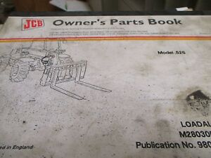 Jcb 526 Loadall Parts Book Manual