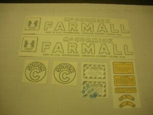 Ihc Farmall Model Super C Tractor Decal Set Vinyl Cut Free Shipping