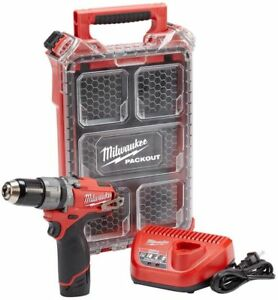 Milwaukee 2404 21p Hammer Drill Kit M12 Fuel 12v Cordless 1 2 In W Packout Case
