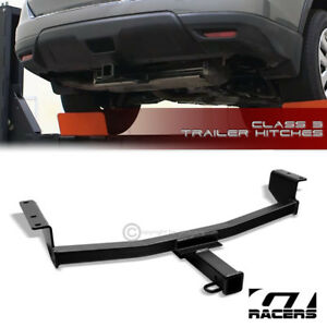 Class 3 Matte Blk Trailer Hitch Receiver Bumper Tow Kit 2 For 2008 2017 Rogue