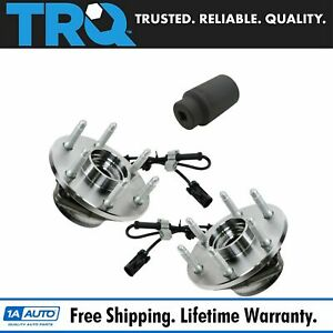 Trq Front Wheel Hubs Bearings Pair W 36mm Socket For Chevy Gmc Truck 4x4 4wd