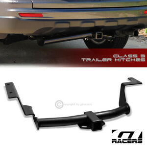 Class 3 Matte Black Trailer Hitch Receiver Bumper Tow 2 For 2007 2011 Honda Crv