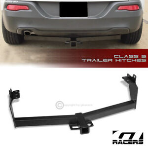 For 2014 2018 Jeep Cherokee Class 3 Matte Black Trailer Hitch Receiver Tow 2