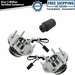 Front Wheel Hubs Bearings Pair W 36mm Socket For Chevy Gmc Truck 4x4 4wd
