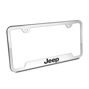Jeep Brushed Stainless Steel License Plate Frame