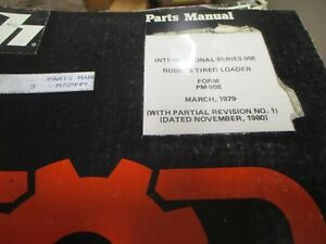 International 90e Rubber Tired Loader Parts Manual