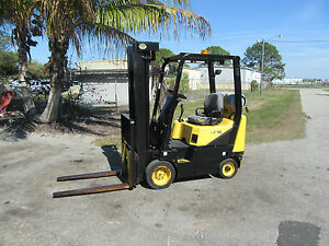 Daewoo Gc15 3000lb Forklift Solid Tires Automatic Propane Side Shift 677 Hrs