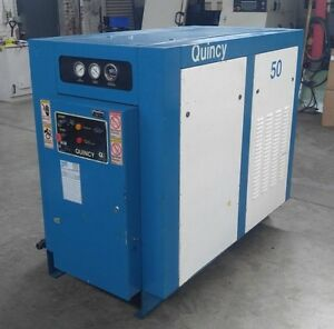 Quincy Qst 50 Hp Screw Air Compressor 206 Cfm 125 Psi 200 Volt