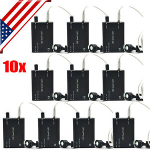 10x Usa Ship Led Head Light Lamp For Dental Surgical Medical Binocular Loupes