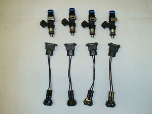 4 New Genuine Bosch 160lb 1650cc Fuel Injectors 2002 06 Acura Rsx Type s K20 K24