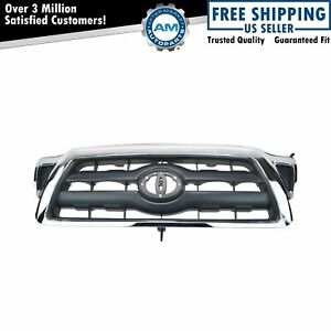 Grille Black With Chrome Surround For 05 10 Toyota Tacoma New