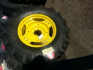 Two 13 6x24 R 1 8 Ply John Deere 1050 Tractor Tires Wheels With Centers