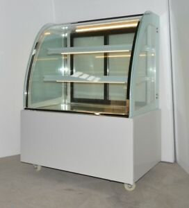 New Refrigerated Cake Showcase Commerical Diamond Glass Display Case 110