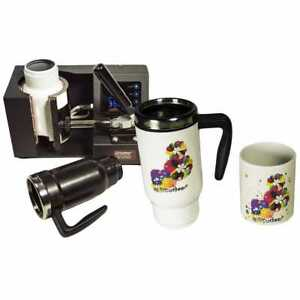 Mug Cup Heat Press Transfer Sublimation Machine Automatic Digital Timer Black