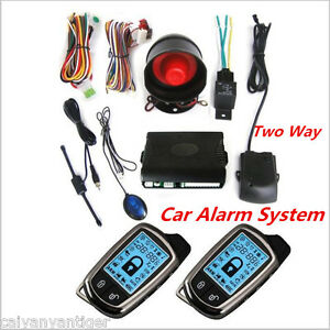 2 Way Car Alarm Safety System Keyless Entry Long Distance Controlers Anti theft